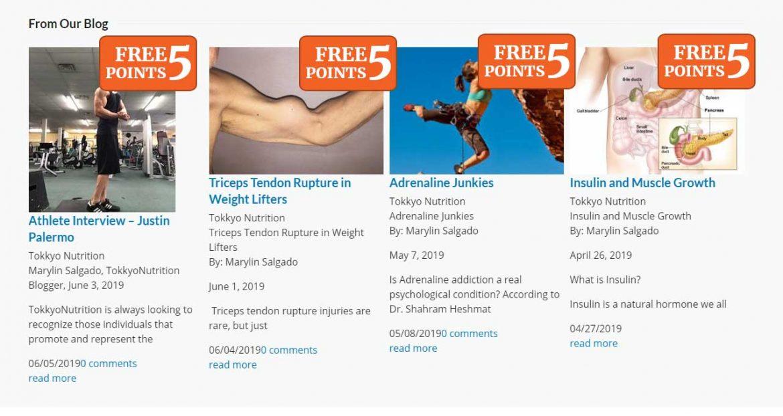 Earn Points by Reading Blogs